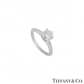 Tiffany & Co. Platinum Diamond Setting Ring 1.01ct E/VS1